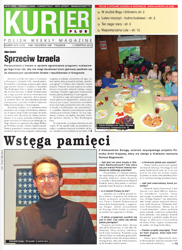 Kurier Plus - 11 kwietnia 2015