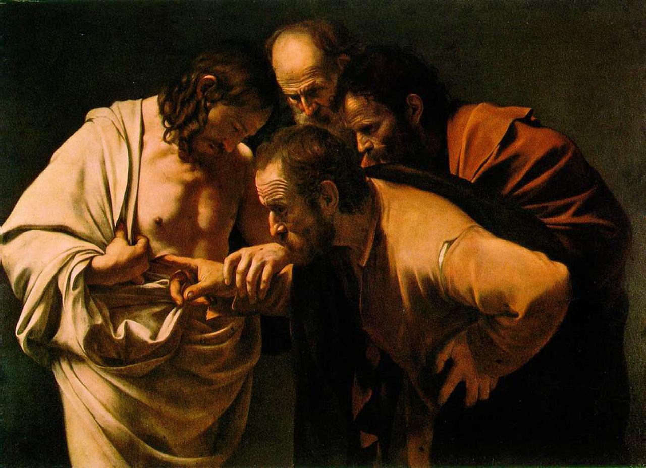 NIewierny Tomasz. Obraz Caravaggio