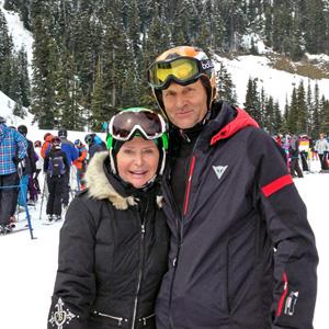 Karol Kloc z żoną Grace