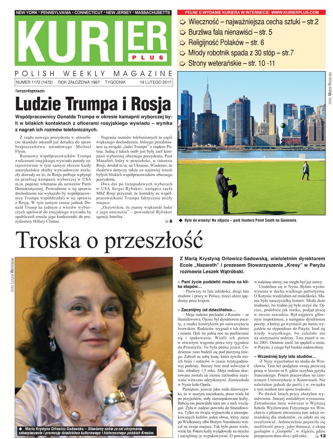 Kurier Plus - e-wydanie 18 lutego 2017