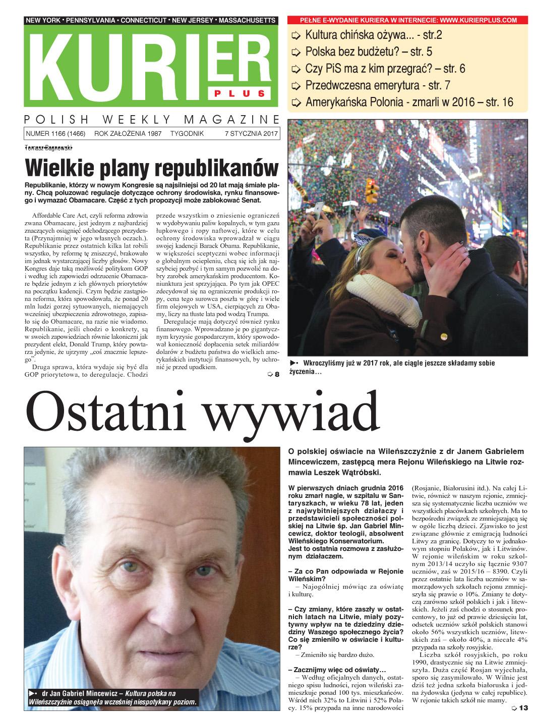 Kurier Plus - e-wydanie 7 stycznia 2017